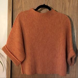 MOTH Anthropology Boatneck Cropped Sweater